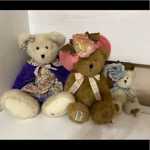 Boyds Bears set Madison May T Beary floral flowers